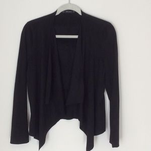 Zara light blazer black  faux suede.